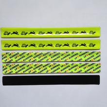 sports promotional gift reflex slap bracelet