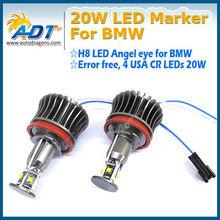 20W H8 LED Angel Eye Halo Light No Error for BMW 1 3 5 Series Z4 X5 X6 E90 E92 E93