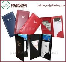 hot sale free sample wholesale restaurant bill folder leather