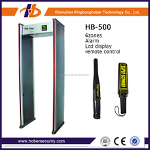 high sensitivity waterproof walkthrough metal detector, safety full body metal detector security gate