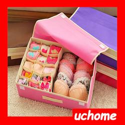 UCHOME Fashion Colourful Underwear Storage Boxes Wholesale Underpant & Socks Organizer Box With Handle
