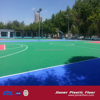 pp interlocking floor outdoor basketball court prices