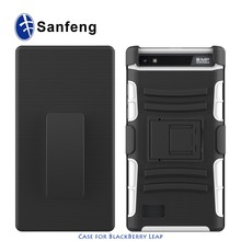 New design case for blackberry leap z20 holster phone cover with belt clip