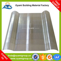 1.5mm thickness semi-rigid hot sale colorful light frp sheets for outdoor canopy