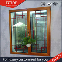 TND75 TIDE windows aluminum and wood window grill design for homes