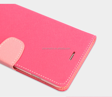 China Manufacturer Wholesale Leather Flip Phone Case Cover With Card Slots, For iphone 6 Mobile Phone Case