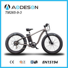 "New style electric sport bike 250W Brushless 26*4.0"" fat tyre e-bike TM265-9-3"