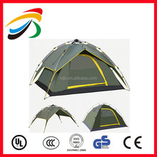 Hot Sale 2 Person Outdoor Army Green Automatic Waterproof Aluminium Pole Floding Camping Tent