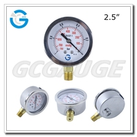 2.5 Inch 60mm dial Stainless steel bottom type gas manometros