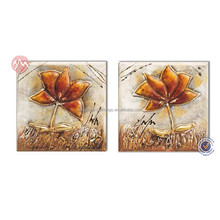 Modern flower canvas oil painting group for living room decoration