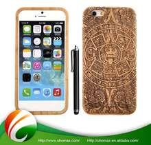 Top Quality Customized Logo Printed Wood Cover Case For Apple For Iphone 6