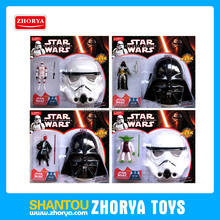 Hot movie star war mask with weapon and action figure 5inch movie star war character, mask and weapon star war toy set