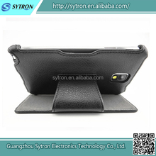 Leather flip cover case for Samsung Galaxy Note 3, mobile phone leather case