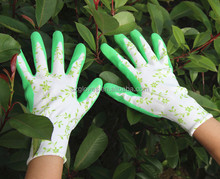 purple/green Latex Rubber Palm Coated Work Safety Gloves Made in China