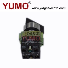 YUMO LAY5-BJ33 long handle push button 3 position stay put or spring return wireless switch push button