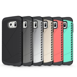 2 in 1 hybrid combo shockproof hard case for samsung galaxy s6