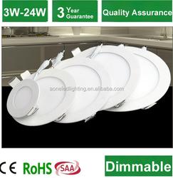 2015 new selling ODM and OEM led panel light aluminum frame 6w saa ce
