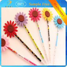 Multicolor creative simulation felt interesting sunflower life Exquisite gel ink handicraft ballpoint pen