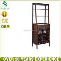Wood wine bar cabinet 15 bottle holder home bar furniture