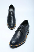 High class famous branded good quality leather mens semi formal shoes/made shoes/used shoes for sale