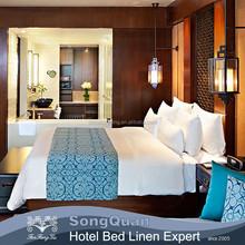 Elegant luxury modern king size cotton white hotel stocklot cross stitch bed sheet and beautiful bed sheet sets