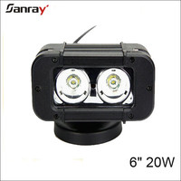 12V/24V 6 inch 20W auto led work light bar motocycle single row 20W led light bar