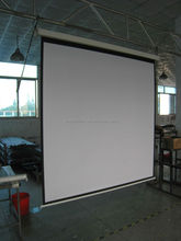 "60"" x 60"" 1:1 manual wall projection / projector screen with self-lock & square casing / housing"