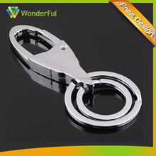 High Quality Circle /Dual Ring Metal ZZ Top Keychain Key Chain