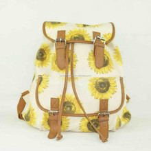 Small size very beautiful young model canvas shcool backpack bag for pretty girls
