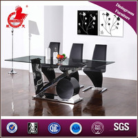 A8031Baroque fiber glass top dining table set