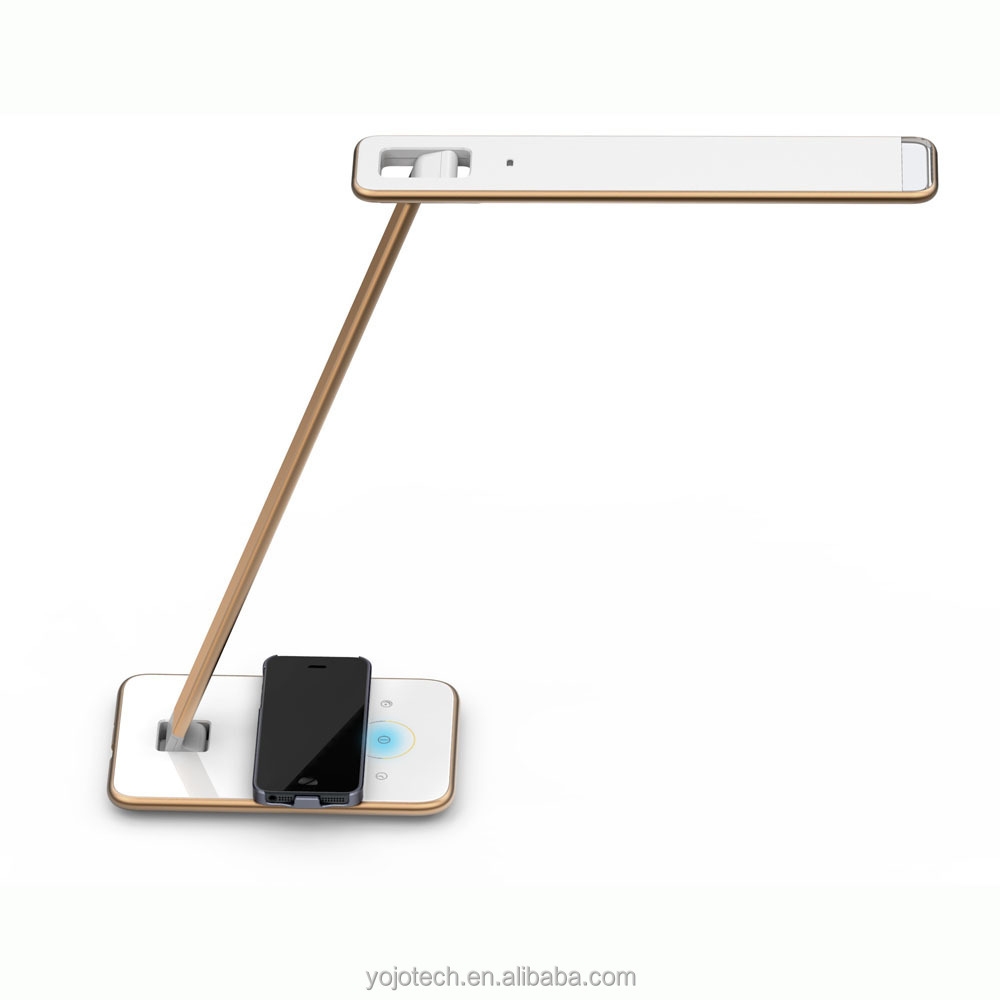 Qi Standard Wireless Charger Table Lamp For Iphone 6 Samsung Note 4 ...