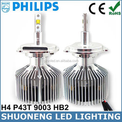 Xenon White 3000lm 25W Replacing Halogen HID Factory Supply H4 LED Philips Head Light Offroad
