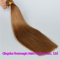 wholesale price high quality 100s double drawn virgin Brazilian human hair #8 Utip hair extension