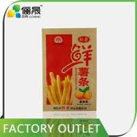 Wholesale customized kraft paper potato chips packaging bag for food