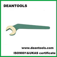 spark proof bent handle open end wrench,bent open spanner