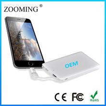 New Ultra Slim Portable Power Bank 4000mah, Dual USB Flashlight Power Bank Charger For iPhone