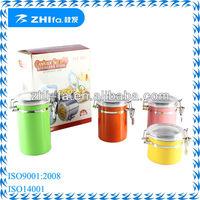 4inch colorful stainless steel storage box/metal storage box