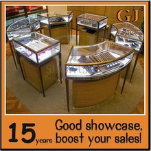 Modern top quality wooden tempered glass jewelry shop counter design