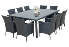 2015 Fancy design rattan noble house furniture dining set
