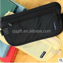 RFID Blocking money Waist Bag Nylon Ripstop Security Waterproof Travel Bag Sports running belt bag for cell phones