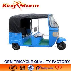 China Bajaj Auto Rickshaw 200CC Passenger Tuk Motorcycle 3 Wheel Passenger Motorcycle