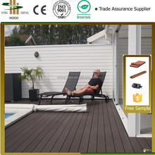 Top quality HDPE Factory Direct edge of pool high UV-resistant piece together new tech wood plastic composite wpc