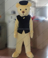 100% in kind shooting man size adult teddy bear mascot costume cosplay giant walking plush teddy bear mascot costume