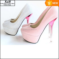 In Stock High Heel Appliques White Pink Crystal Heel wedding Shoes Wedding Platform Shoes White Bridal Shoes