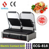 electric commercial panini grill ECG-818 wholesale, double commercial commercial electric contact Grill