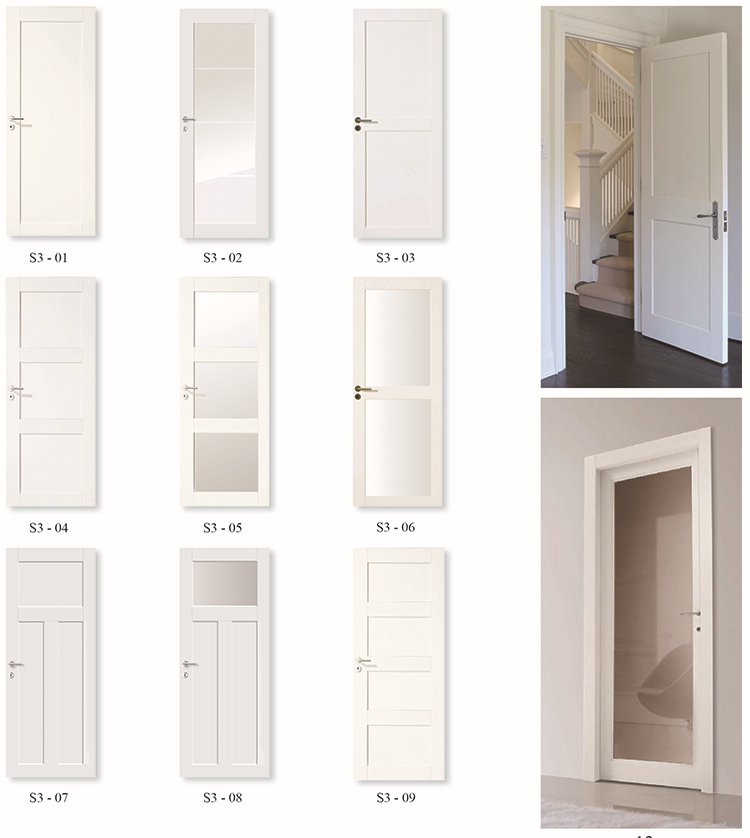 Smooth 1 Panel Solid Core White Primed Mdf Interior Door Buy Mdf