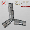 ZJ-FF ISO 16028 flat face type zinc plated hydraulic quick coupler