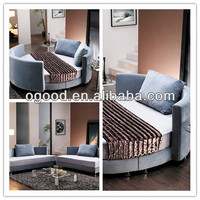 Round bed furniture,round leather corner bed OB001a
