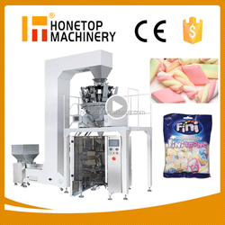 Automatic multihead weigher cotton candy packaging machine