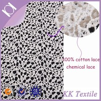 High quality 100% cotton lace cotton embroidery lace water soluble lace for wedding dress